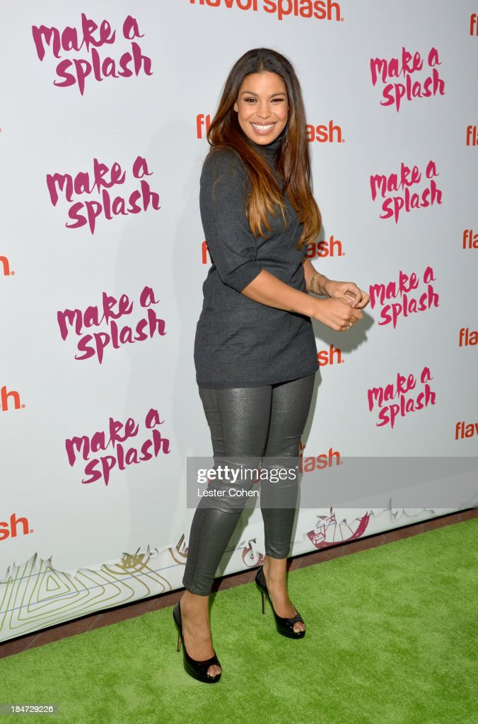 Singer <a gi-track='captionPersonalityLinkClicked' href=/galleries/search?phrase=Jordin+Sparks&family=editorial&specificpeople=4165535 ng-click='$event.stopPropagation()'>Jordin Sparks</a> attends Aquafina Launch of FlavorSplash at Sony Pictures Studios on October 15, 2013 in Culver City, California.