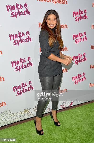 Singer Jordin Sparks attends Aquafina Launch of FlavorSplash at Sony Pictures Studios on October 15 2013 in Culver City California