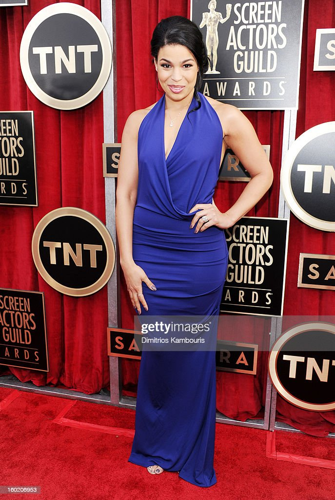 Singer Jordin Sparks attends the 19th Annual Screen Actors Guild Awards at The Shrine Auditorium on January 27, 2013 in Los Angeles, California. (Photo by Dimitrios Kambouris/WireImage) 23116_013_0859.JPG