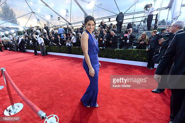 Singer Jordin Sparks attends the 19th Annual Screen Actors Guild Awards at The Shrine Auditorium on January 27 2013 in Los Angeles California...