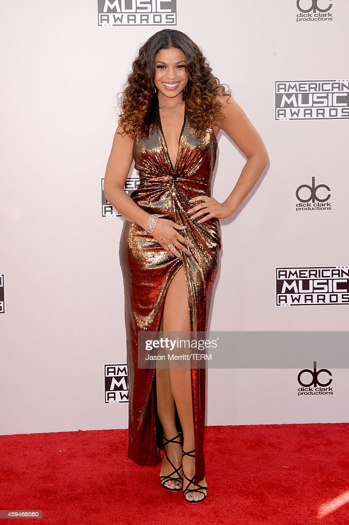 Singer Jordin Sparks attends the 2014 American Music Awards at Nokia Theatre LA Live on November 23 2014 in Los Angeles California