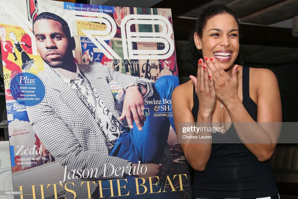 Singer <a gi-track='captionPersonalityLinkClicked' href=/galleries/search?phrase=Jordin+Sparks&family=editorial&specificpeople=4165535 ng-click='$event.stopPropagation()'>Jordin Sparks</a> attends the Jason Derulo YRB Magazine cover release party at Couture on May 7, 2013 in Los Angeles, California.