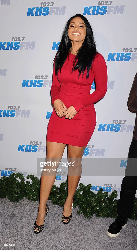 Singer Jordin Sparks attends the KIIS FM's Jingle Ball 2012 held at Nokia Theatre LA Live on December 3, 2012 in Los Angeles, California.