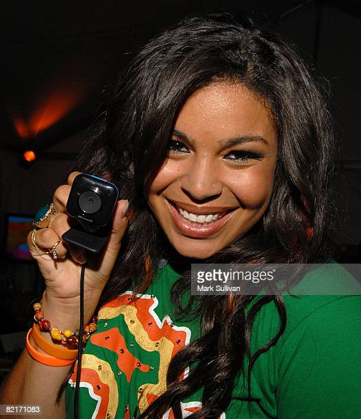 Singer Jordin Sparks attends the Mattel Celebrity Retreat produced by Backstage Creations at Teen Choice 2008 on August 3 2008 in Universal City...