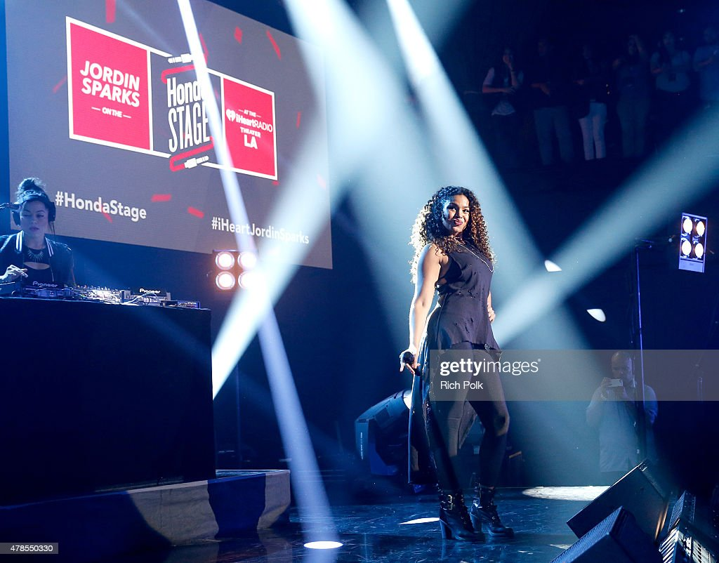 Singer Jordin Sparks performs on the Honda Stage at the iHeartRadio Theater Los Angeles on June 25, 2015 in Burbank, California.