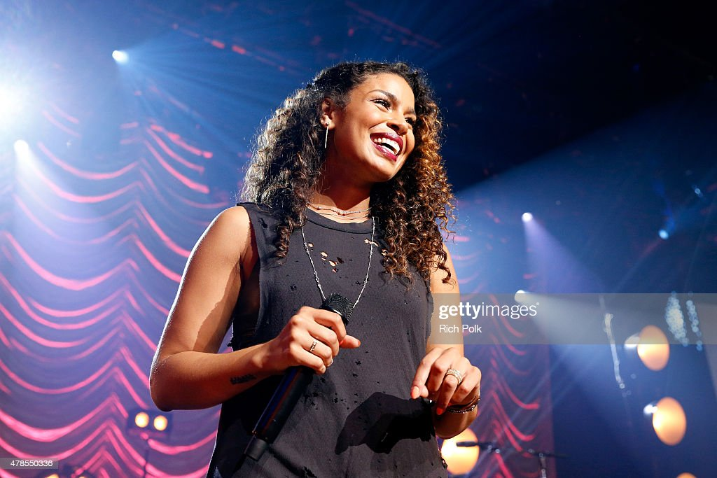 Jordin Sparks On The Honda Stage At The iHeartRadio Theater Los Angeles