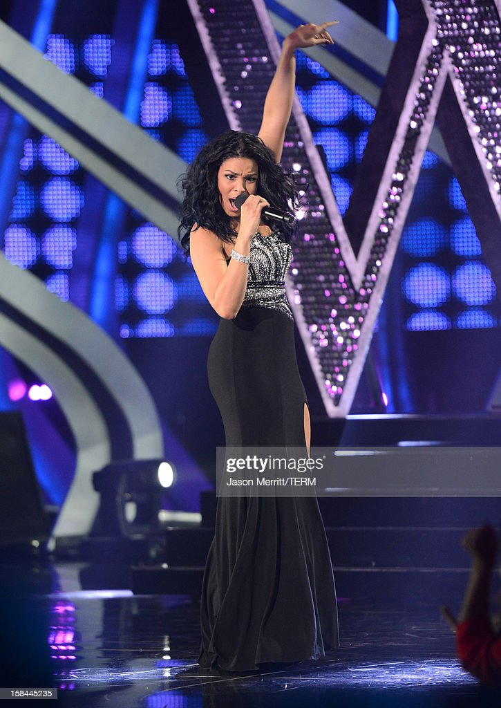 Singer Jordin Sparks performs onstage at 'VH1 Divas' 2012 held at The Shrine Auditorium on December 16, 2012 in Los Angeles, California.