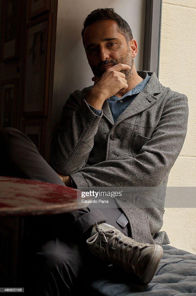 Singer Jorge Drexler attends a portrait session before presenting his new album 'Bailar en la cueva' at Valgame Dios bar on March 24 2014 in Madrid...