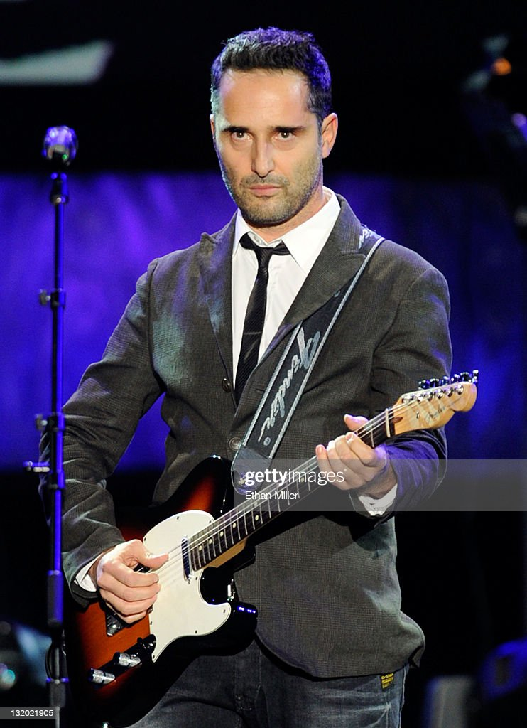 Singer Jorge Drexler performs onstage during the 2011 Latin Recording Academy's Person of the Year honoring Shakira at Mandalay Bay Resort Casino on...