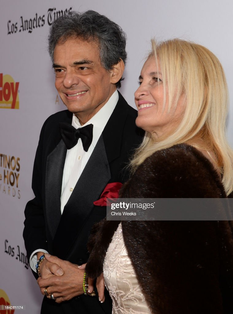 Singer José José and Sara Salazar attend the '2013 Latinos de Hoy Awards' Sponsored by OneLegacy on Saturday October 12 at Los Angeles Times Chandler...