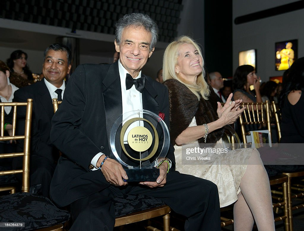 Singer José José, Winner of the Special Achievement in Music, 50 Years poses with the award at the '2013 Latinos de Hoy Awards' Sponsored by OneLegacy on Saturday, October 12 at Los Angeles Times Chandler Auditorium in Los Angeles, California.