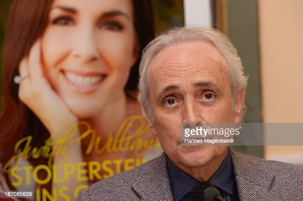 Singer Jose Carreras attends the book launch of 'Stolpersteine ins Glueck' by Judith Williams at Hotel Bayerischer Hof on November 6 2013 in Munich...