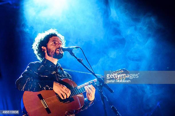 Singer Jose Gonzalez performs live on stage during a concert at Tempodrom on November 3 2015 in Berlin Germany