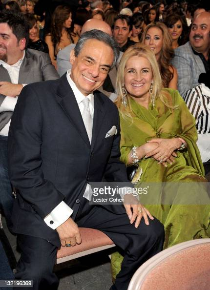 Singer Jose Jose and wife Sara Salazar in the audience at the 12th Annual Latin GRAMMY Awards held at the Mandalay Bay Events Center on November 10...