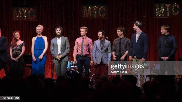 Singer Josh Groban and the cast of Natasha Pierre the Great Comet of 1812 perform during the Manhattan Theatre Club Spring Gala 2017 at Cipriani 42nd...