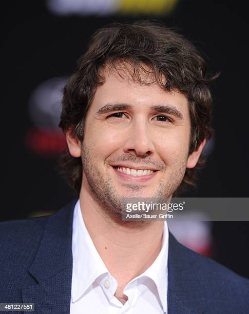 Singer Josh Groban arrives at the Los Angeles premiere of 'Muppets Most Wanted' at the El Capitan Theatre on March 11 2014 in Hollywood California