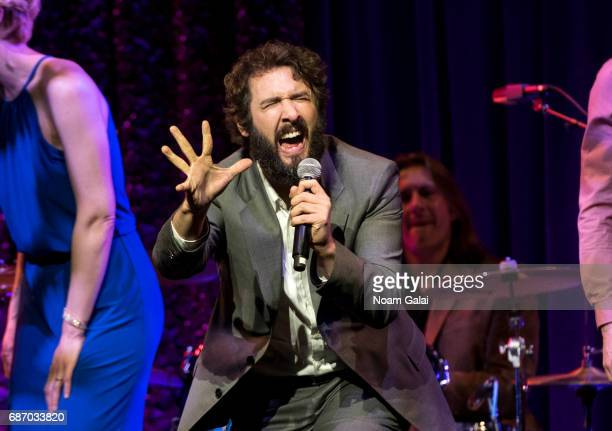Singer Josh Groban performs during the Manhattan Theatre Club Spring Gala 2017 at Cipriani 42nd Street on May 22 2017 in New York City