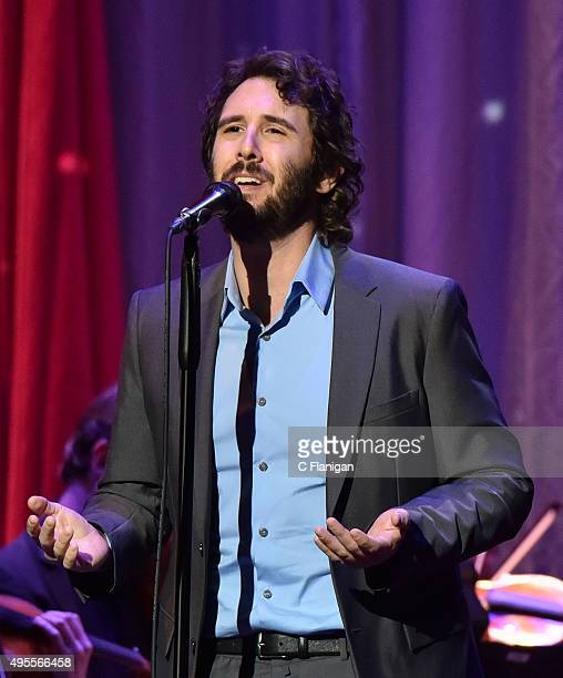 Singer Josh Groban performs during the 'Stages' tour at The Masonic Auditorium on November 3 2015 in San Francisco California