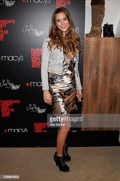 Singer Joss Stone attends the Macy's celebration of Fashion's Night Out at Macy's Herald Square on September 10 2010 in New York City