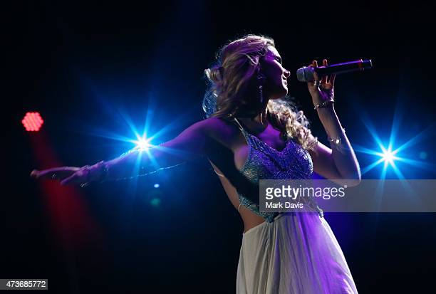 Singer Joss Stone performs onstage during Rock in Rio USA at the MGM Resorts Festival Grounds on May 16 2015 in Las Vegas Nevada