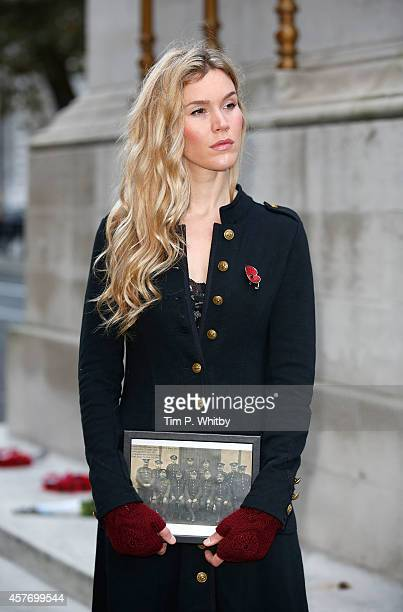 Singer Joss Stone stands in position on the first thirty minute 'Watch' of the day to mark the launch of The Royal British Legion's Poppy Appeal at...