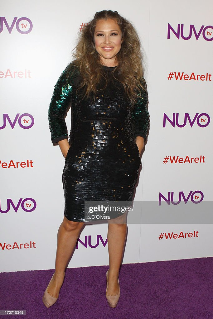 Singer Joy Enriquez attends NUVOtv Network Launch Party at The London West Hollywood on July 16, 2013 in West Hollywood, California.
