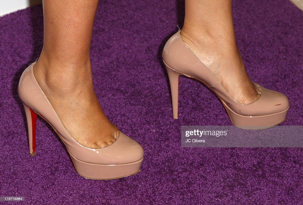 Singer Joy Enriquez attends NUVOtv Network Launch Party (shoes detail) at The London West Hollywood on July 16, 2013 in West Hollywood, California.