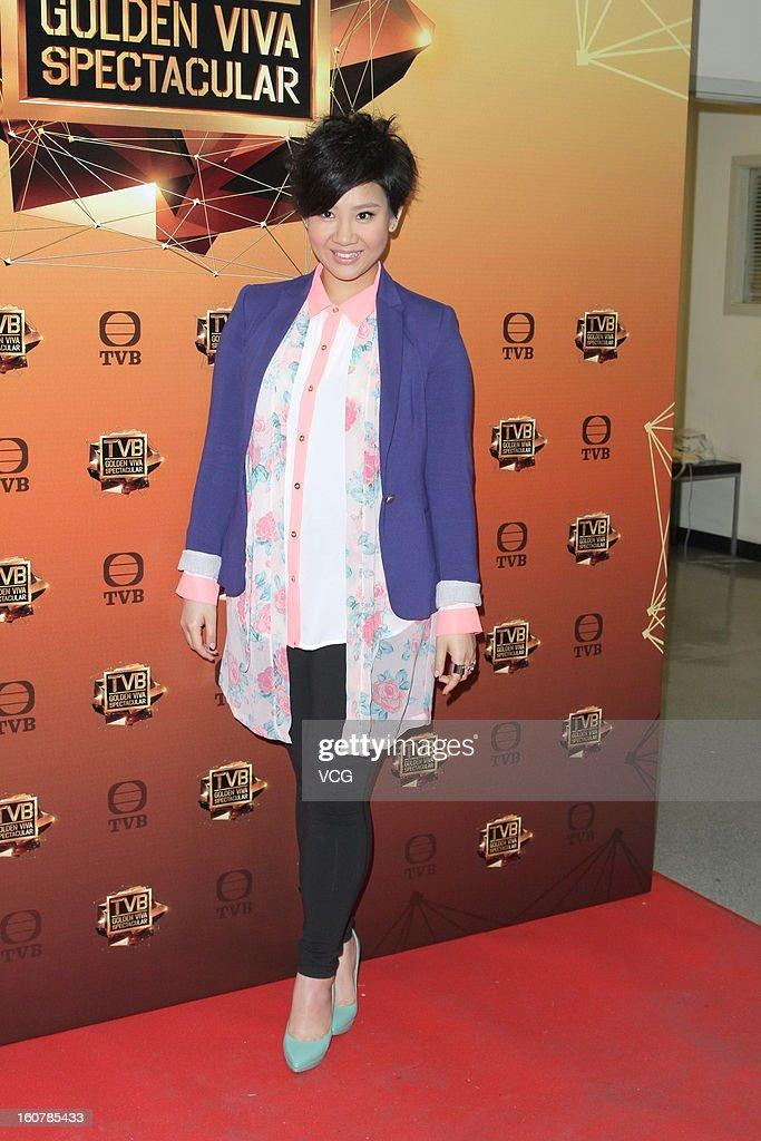 Singer Joyce Cheng attends TVB Golden Viva Spectacular at TVB City on February 5, 2013 in Hong Kong.