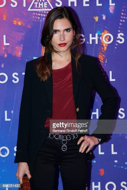 Singer Joyce Jonathan attends the Paris Premiere of the Paramount Pictures release 'Ghost in the Shell' Held at Le Grand Rex on March 21 2017 in...