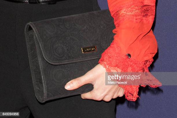 Singer Joyce Jonathan clutch bag detail attends the the Cesar Film Awards 2017 ceremony at Salle Pleyel on February 24 2017 in Paris France