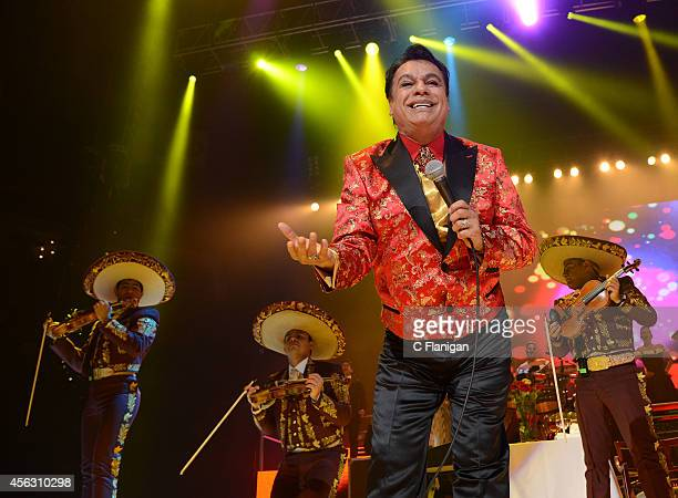 Singer Juan Gabriel performs during his 'Volver Tour 2014' on September 28 2014 in Oakland California