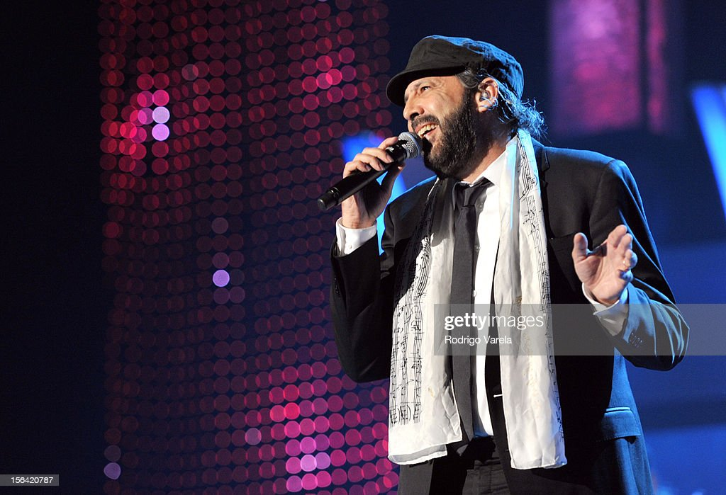 Singer <a gi-track='captionPersonalityLinkClicked' href=/galleries/search?phrase=Juan+Luis+Guerra&family=editorial&specificpeople=208921 ng-click='$event.stopPropagation()'>Juan Luis Guerra</a> peforms onstage during the 2012 Person of the Year honoring Caetano Veloso at the MGM Grand Garden Arena on November 14, 2012 in Las Vegas, Nevada.