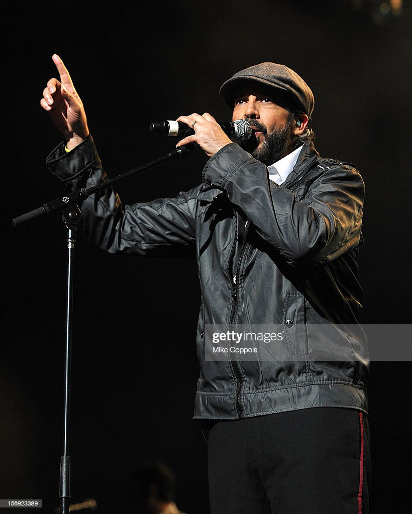 Singer Juan Luis Guerra performs at Barclays Center of Brooklyn on November 24, 2012 in New York City.
