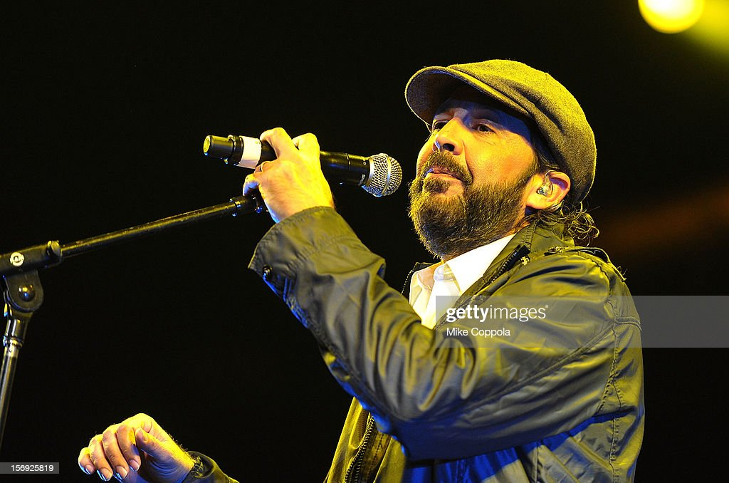 Singer <a gi-track='captionPersonalityLinkClicked' href=/galleries/search?phrase=Juan+Luis+Guerra&family=editorial&specificpeople=208921 ng-click='$event.stopPropagation()'>Juan Luis Guerra</a> performs at Barclays Center of Brooklyn on November 24, 2012 in New York City.