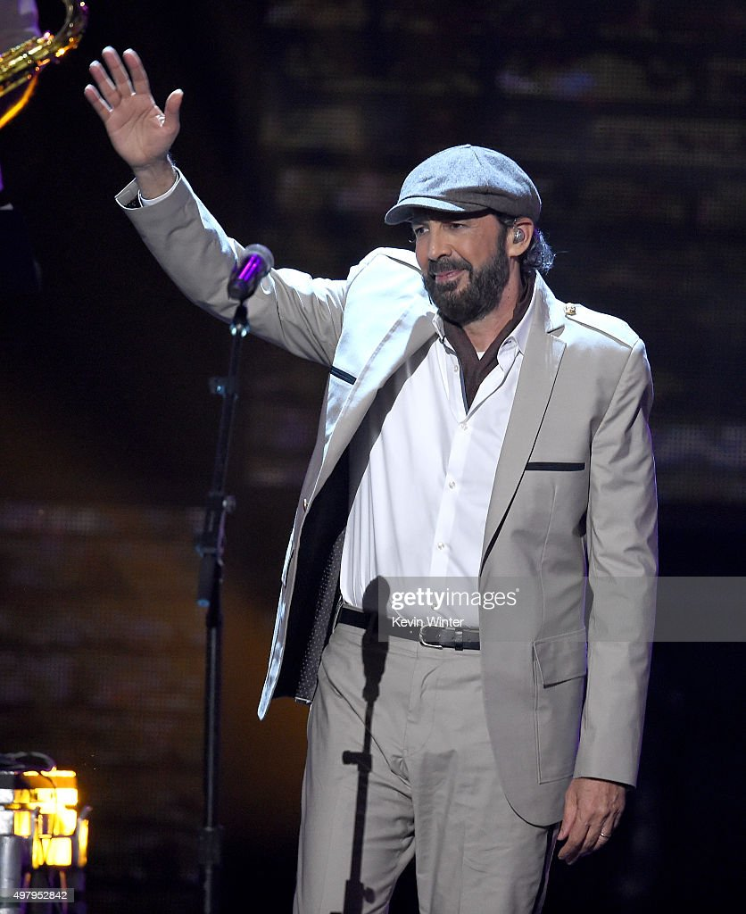 Singer <a gi-track='captionPersonalityLinkClicked' href=/galleries/search?phrase=Juan+Luis+Guerra&family=editorial&specificpeople=208921 ng-click='$event.stopPropagation()'>Juan Luis Guerra</a> performs onstage during the 16th Latin GRAMMY Awards at the MGM Grand Garden Arena on November 19, 2015 in Las Vegas, Nevada.