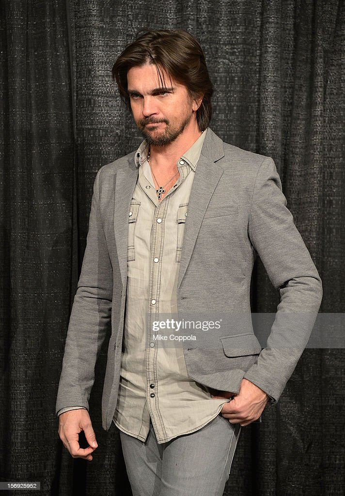 Singer Juanes attends a pre-show press conference at Barclays Center of Brooklyn on November 24, 2012 in New York City.