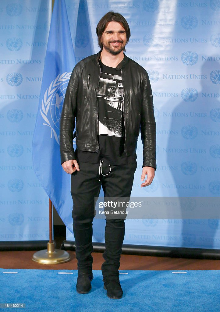 Singer <a gi-track='captionPersonalityLinkClicked' href=/galleries/search?phrase=Juanes&family=editorial&specificpeople=202467 ng-click='$event.stopPropagation()'>Juanes</a> attends the commemoration of 2015 World Humanitarian Day at the U.N. Headquarters on August 18, 2015 in New York CIty.