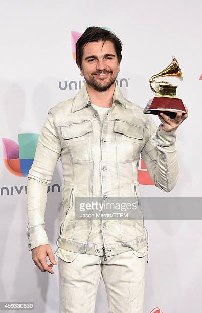 Singer Juanes winner of Best Pop/Rock Album attends the 15th Annual Latin GRAMMY Awards at the MGM Grand Garden Arena on November 20 2014 in Las...