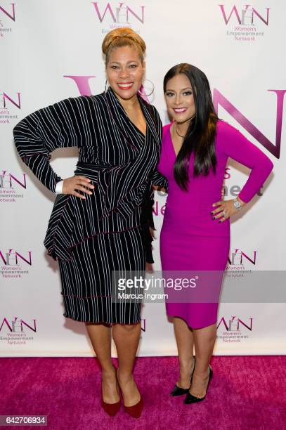 Singer Juanita Craft and TV personality Lisa Nicole Cloud attend the 2017 WEN VIP day and power brunch at The Westin Peachtree Plaza Hotel on...