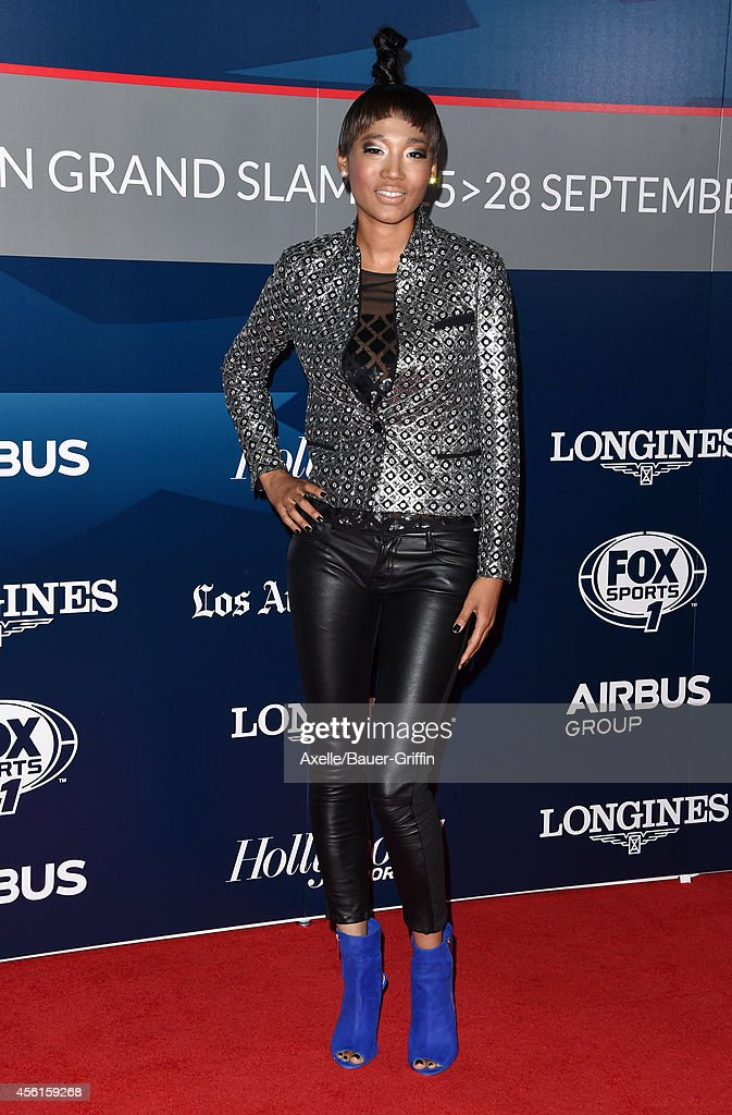 Singer Judith Hill arrives at the Longines Los Angeles Masters Red Carpet Evening Gala at Los Angeles Convention Center on September 25 2014 in Los...