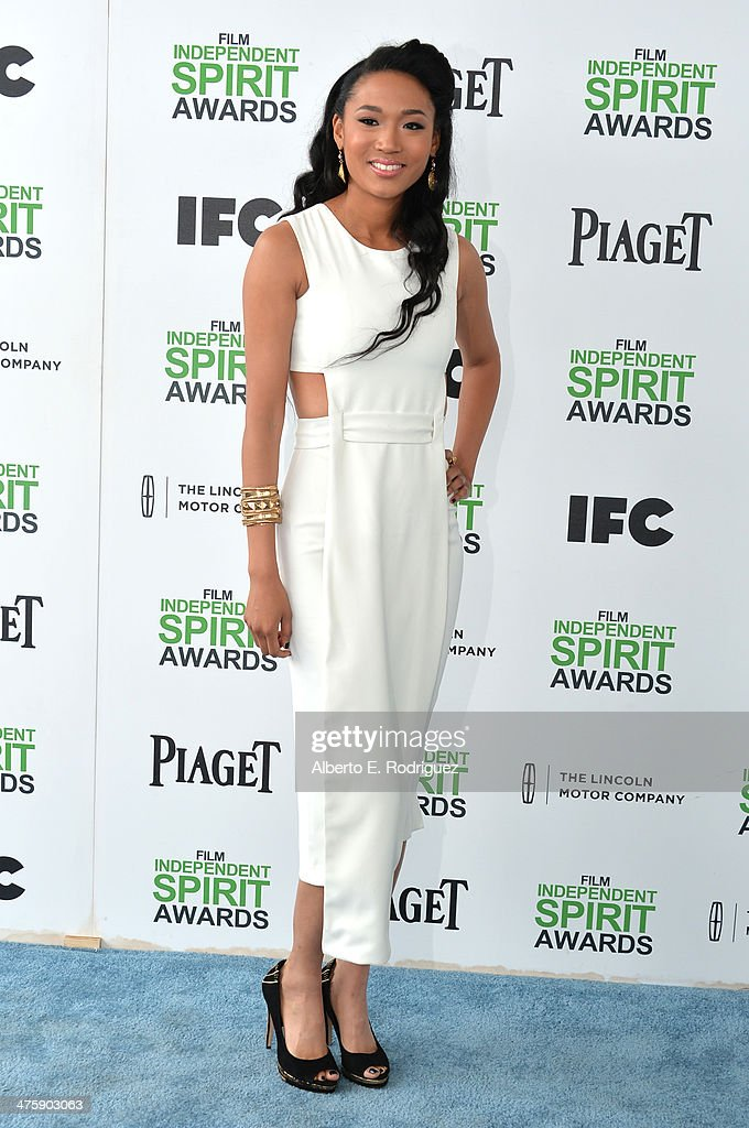 Singer <a gi-track='captionPersonalityLinkClicked' href=/galleries/search?phrase=Judith+Hill&family=editorial&specificpeople=5964031 ng-click='$event.stopPropagation()'>Judith Hill</a> attends the 2014 Film Independent Spirit Awards at Santa Monica Beach on March 1, 2014 in Santa Monica, California.