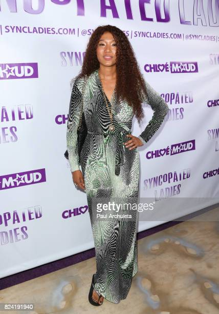 Singer Judith Hill attends the Syncopated Ladies LA concert at The John Anson Ford Amphitheatre on July 28 2017 in Hollywood California