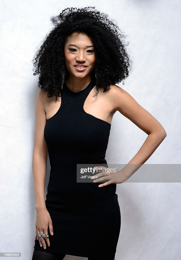 Singer Judith Hill poses for a portrait during the 2013 Sundance Film Festival at the WireImage Portrait Studio at Village At The Lift on January 21, 2013 in Park City, Utah.