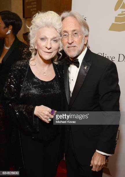 Singer Judy Collins and President/CEO of The Recording Academy and GRAMMY Foundation President/CEO Neil Portnow attend the PreGRAMMY Gala and Salute...