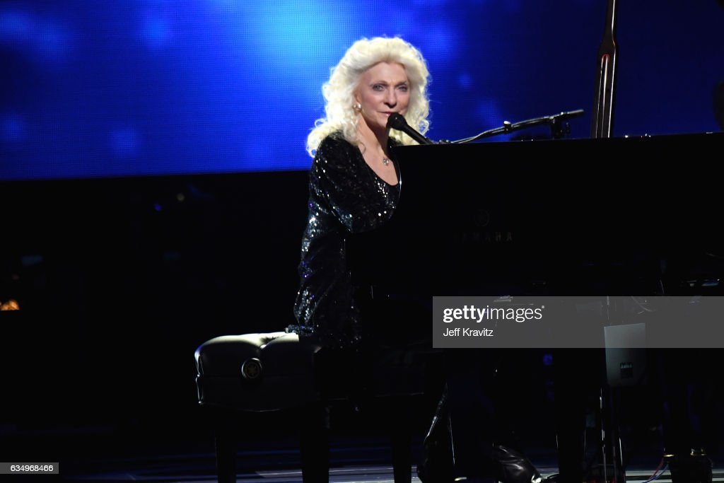 Singer Judy Collins performs onstage at the Premiere Ceremony during the 59th GRAMMY Awards at STAPLES Center on February 12, 2017 in Los Angeles, California.
