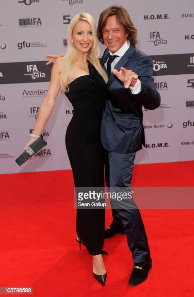 Singer Juergen Drews snd his wife Ramona Drews attend the IFA Opening Ceremony at the Palais am Funkturm on September 2 2010 in Berlin Germany