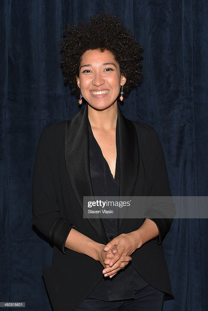 Singer Julia Bullock attends press launch of Broadway Classics at Carnegie Hall at Manhattan Concert Productions Studio on November 27, 2013 in New York City.