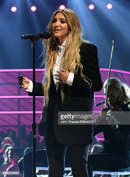 Singer Julia Michaels performs onstage during the 2017 Billboard Music Awards at TMobile Arena on May 21 2017 in Las Vegas Nevada