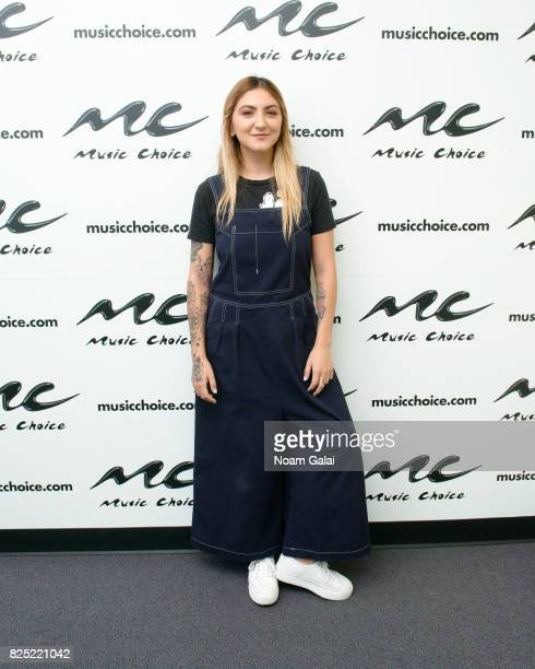 Singer Julia Michaels visits Music Choice on August 1 2017 in New York City