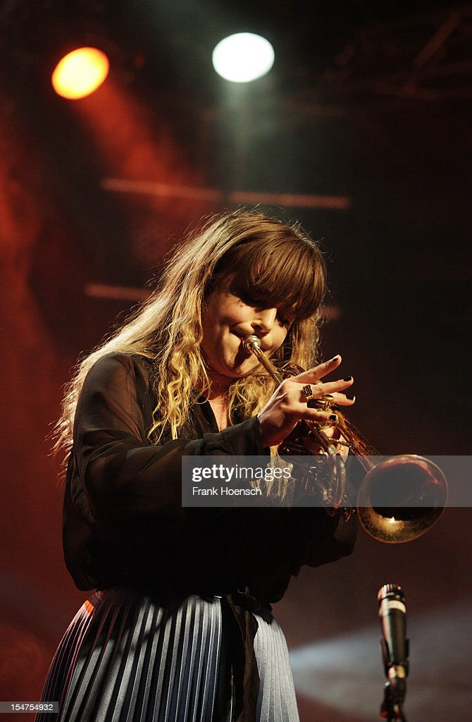 Singer Julia Stone performs live during a concert at the Postbahnhof on October 25, 2012 in Berlin, Germany.